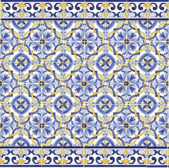 Camilù Azulejos del Portogallo decoro Braga